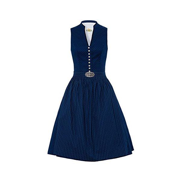 Wenger Trachtenmode Damen Midi Dirndl 65er dunkelblau Ulrike 001873