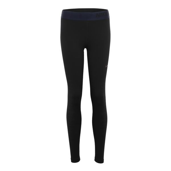NIKE Sportleggings schwarz