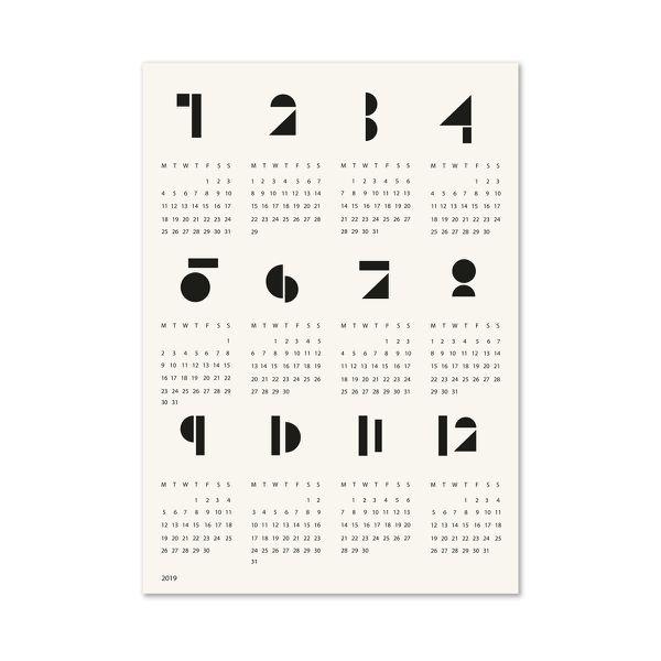 Connox Collection - toyblocks Wandkalender 2019, schwarz / weiß